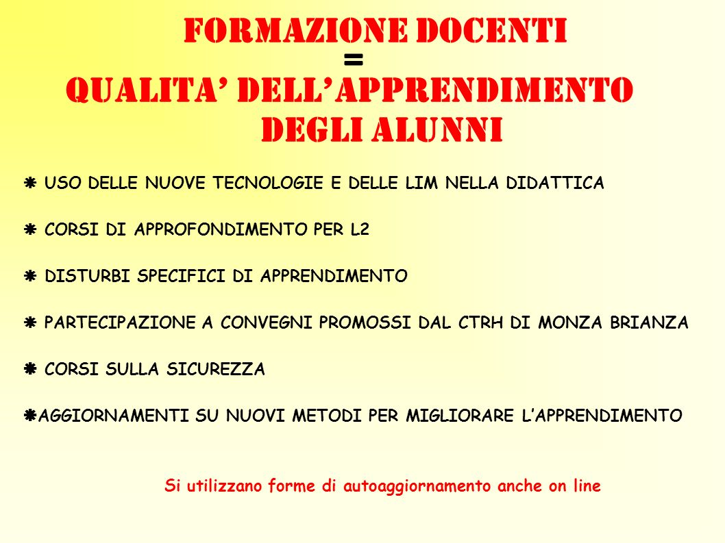 QUALITA' DELL'APPRENDIMENTO