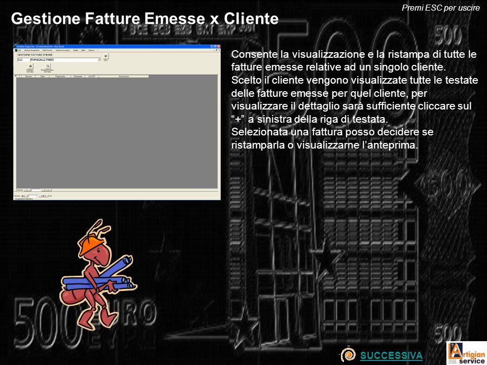 Gestione Fatture Emesse x Cliente