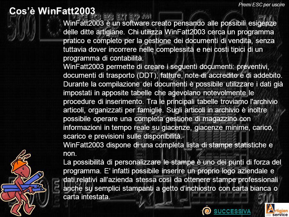 Premi ESC per uscire Cos'è WinFatt2003.