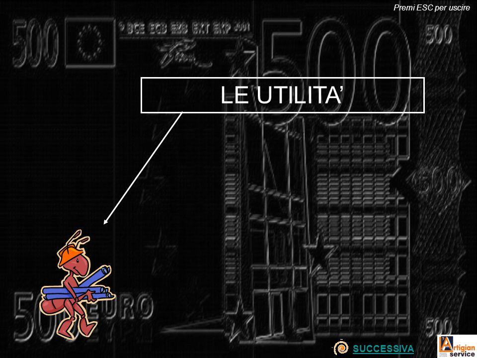 Premi ESC per uscire LE UTILITA' SUCCESSIVA
