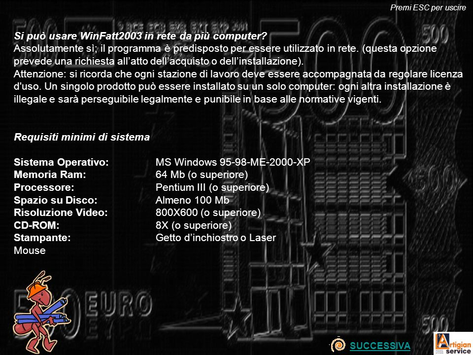 Si può usare WinFatt2003 in rete da più computer