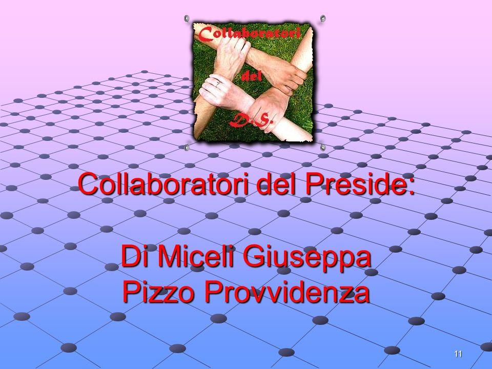 Collaboratori del Preside: Di Miceli Giuseppa Pizzo Provvidenza