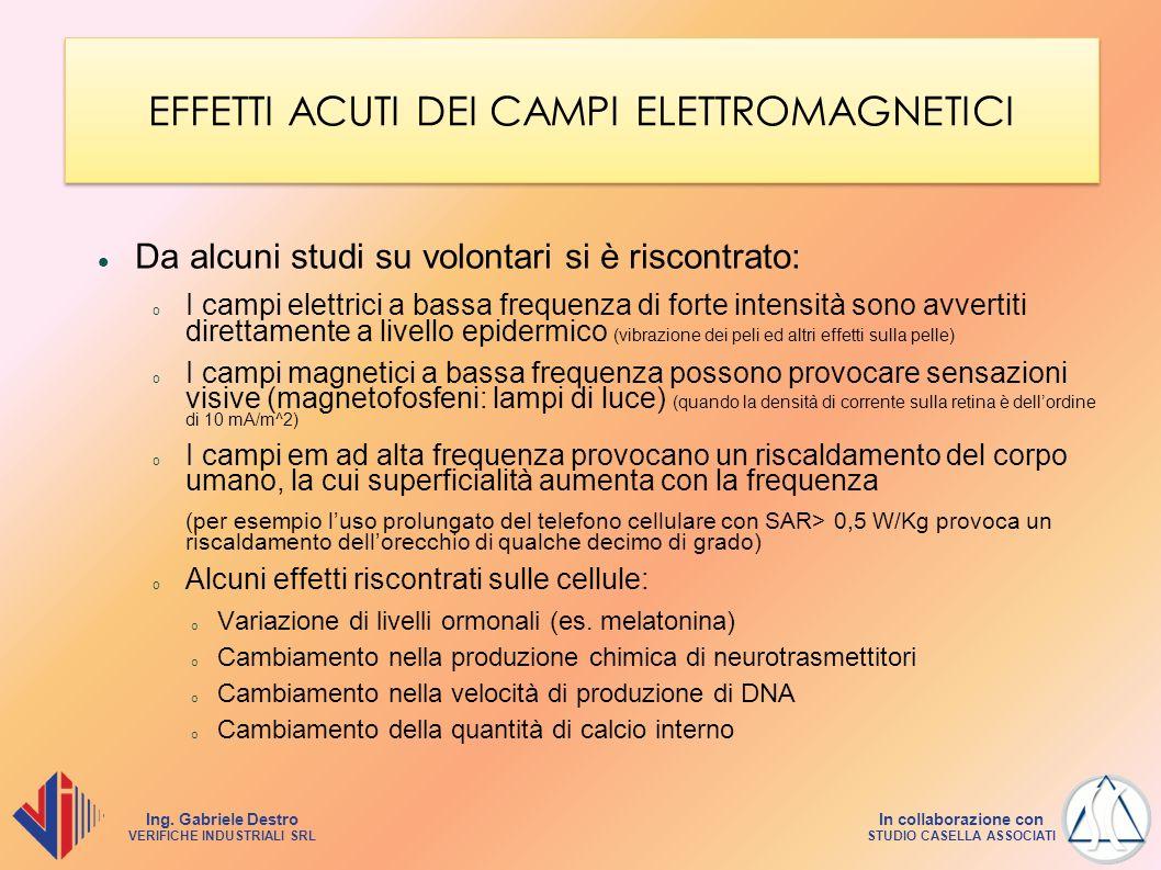 EFFETTI ACUTI DEI CAMPI ELETTROMAGNETICI