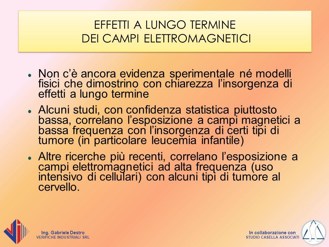 EFFETTI A LUNGO TERMINE DEI CAMPI ELETTROMAGNETICI