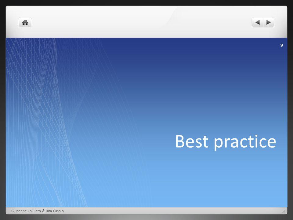 Best practice Giuseppe Lo Pinto & Rita Casolo