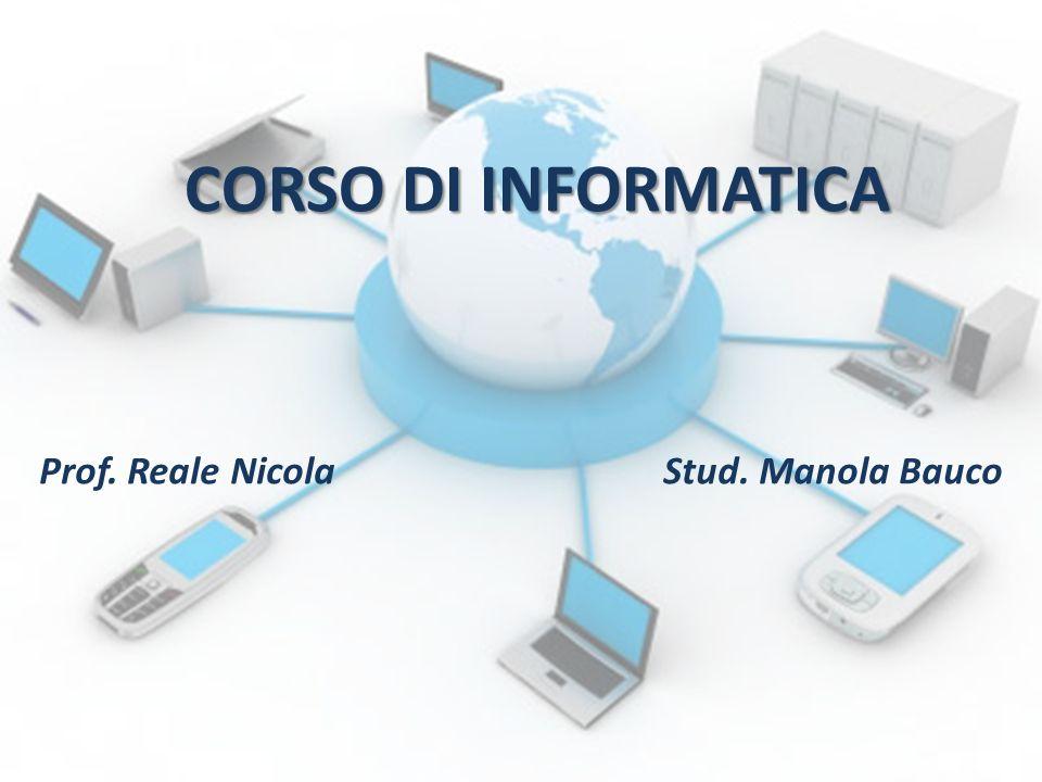 Prof. Reale Nicola Stud. Manola Bauco