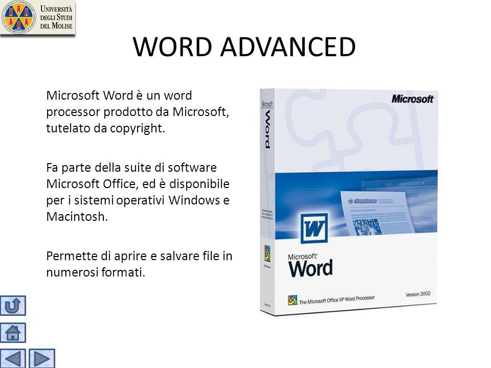 WORD ADVANCED