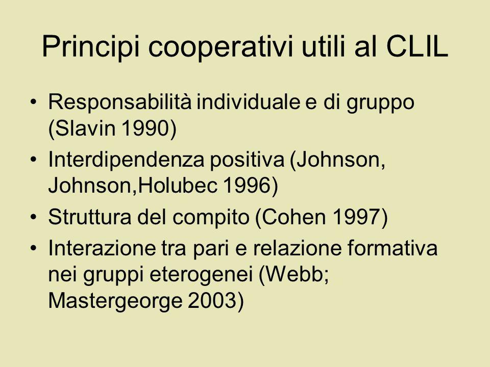 Principi cooperativi utili al CLIL