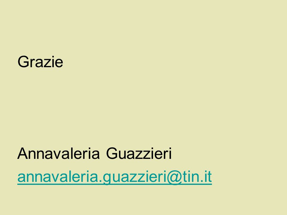Grazie Annavaleria Guazzieri annavaleria.guazzieri@tin.it