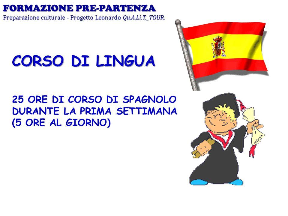 CORSO DI LINGUA FORMAZIONE PRE-PARTENZA