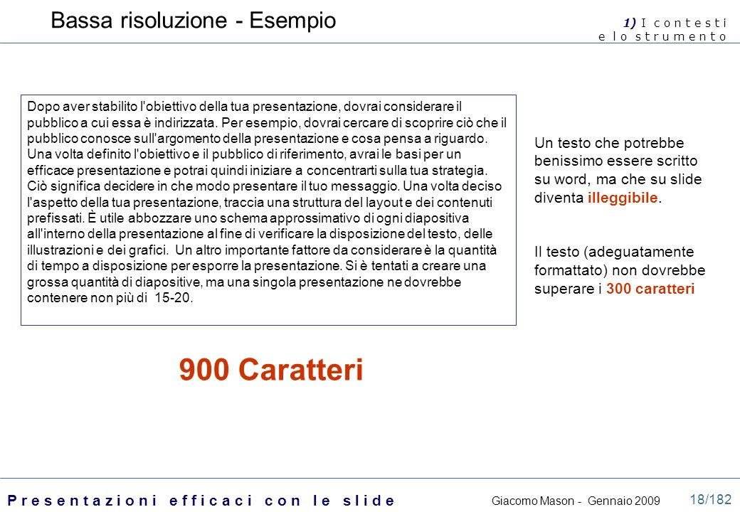 900 Caratteri Bassa risoluzione - Esempio