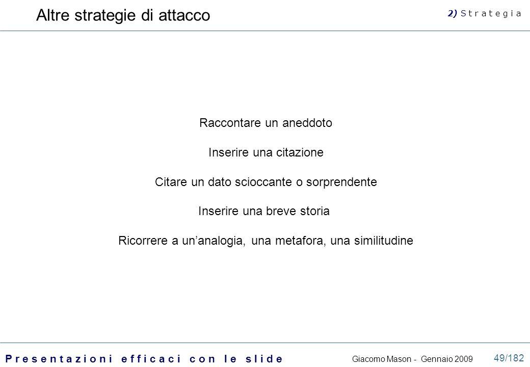 Altre strategie di attacco