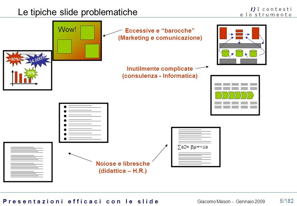 Le tipiche slide problematiche