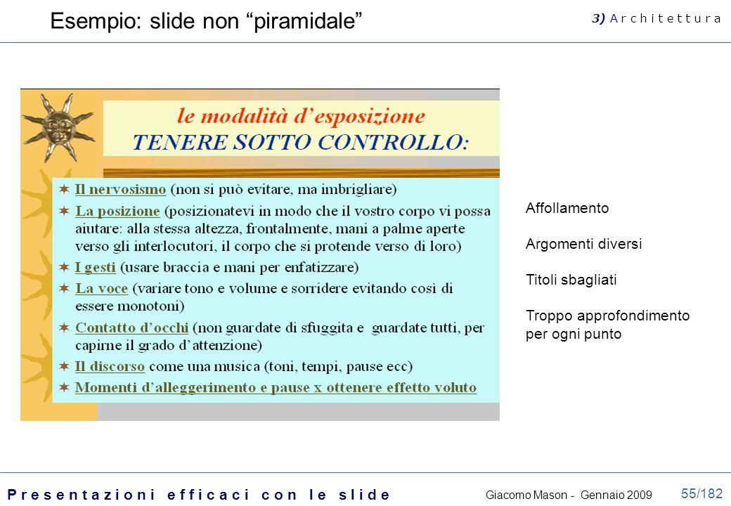 Esempio: slide non piramidale
