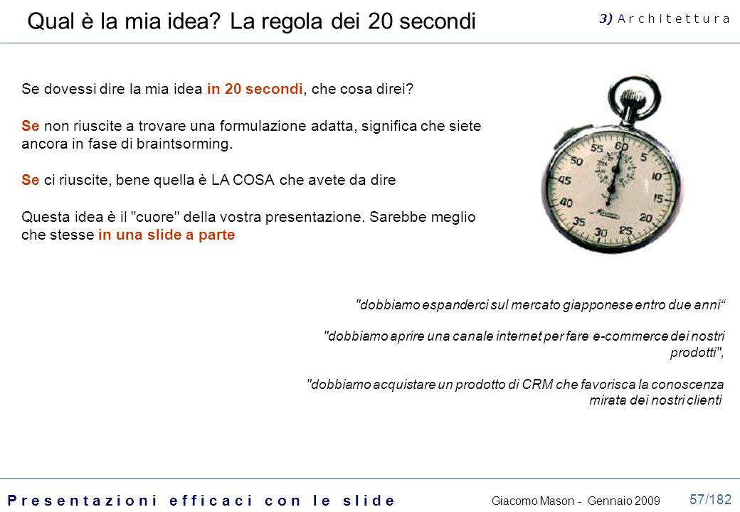 Qual è la mia idea La regola dei 20 secondi