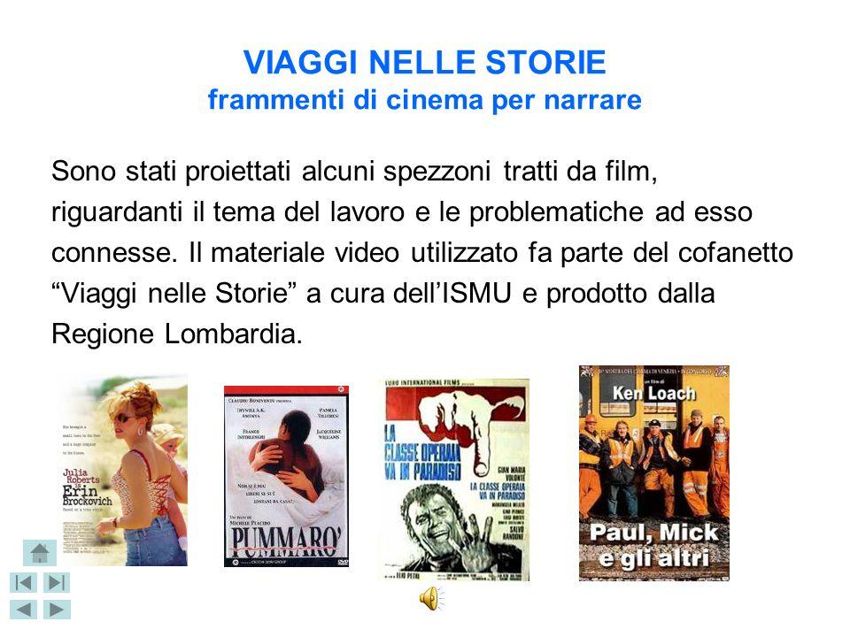 VIAGGI NELLE STORIE frammenti di cinema per narrare