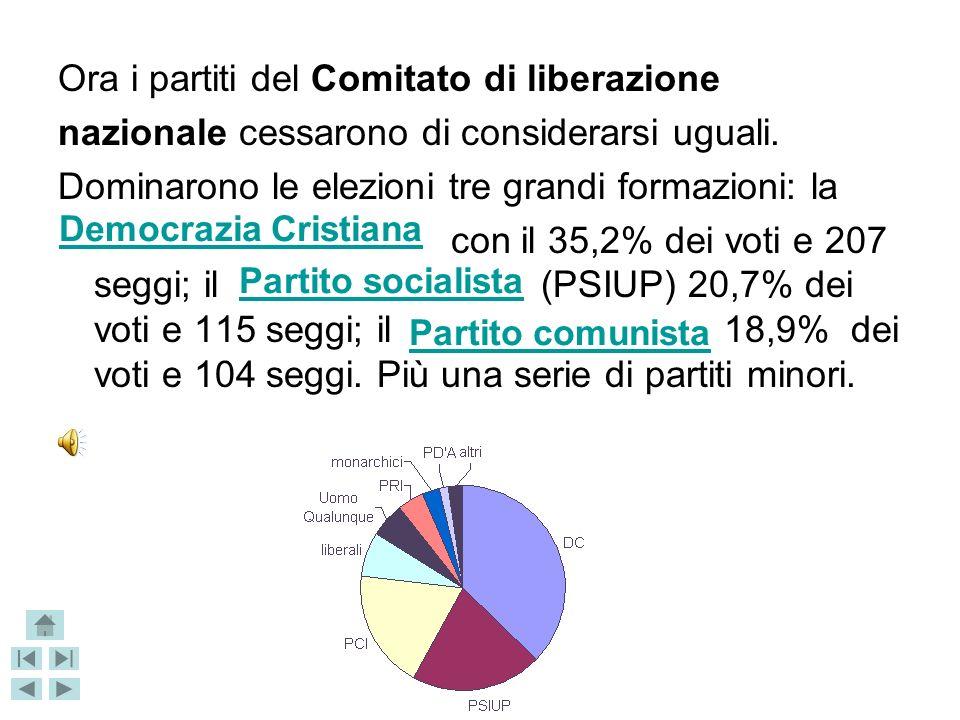 Ora i partiti del Comitato di liberazione