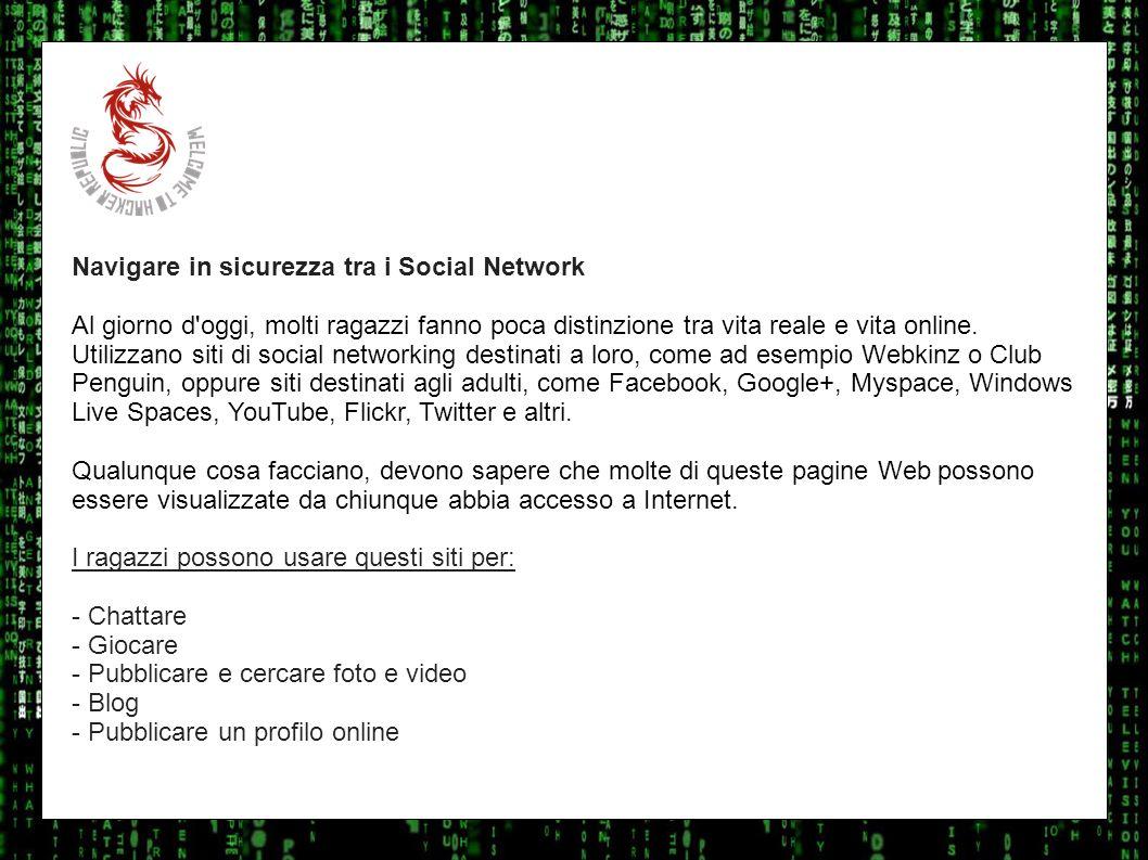 I sulla geo Navigare in sicurezza tra i Social Network.