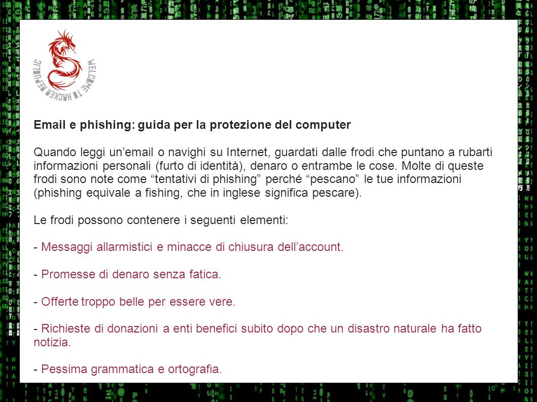I sulla geoEmail e phishing: guida per la protezione del computer.