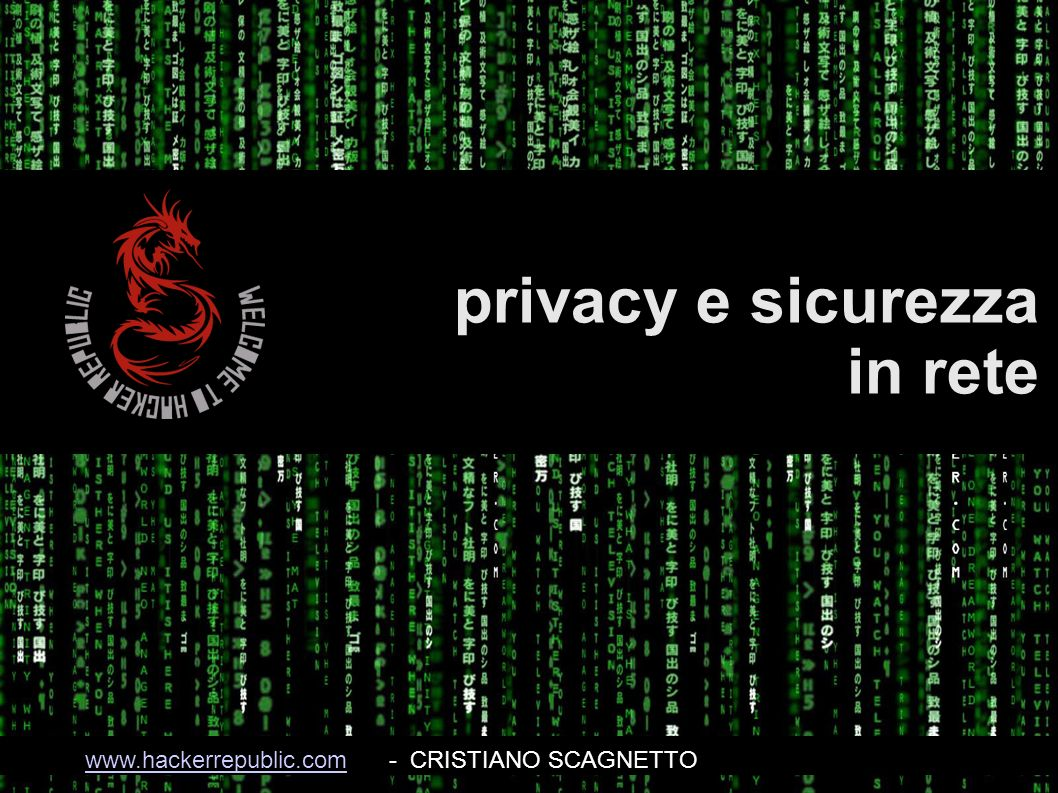 privacy e sicurezza in rete