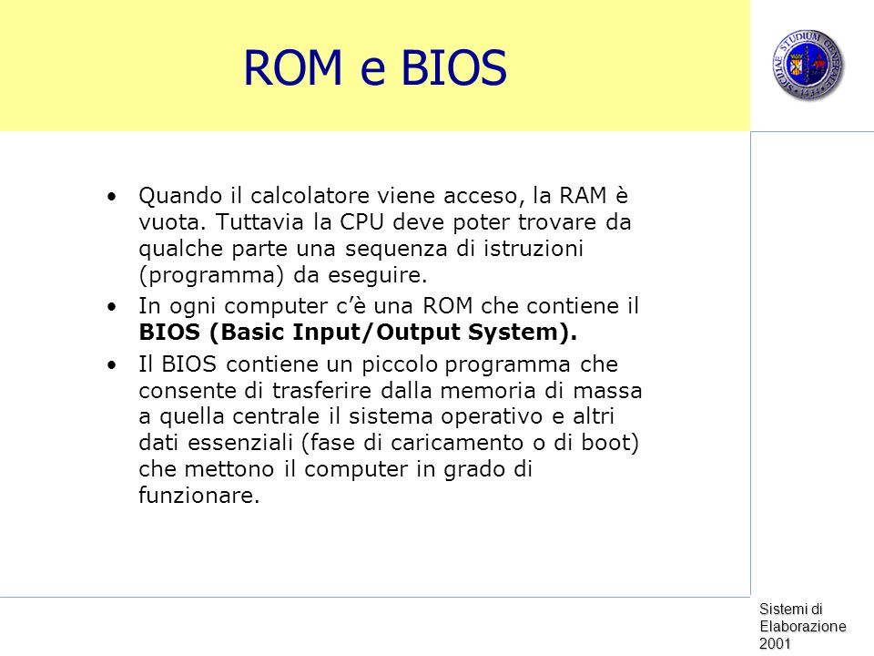 ROM e BIOS