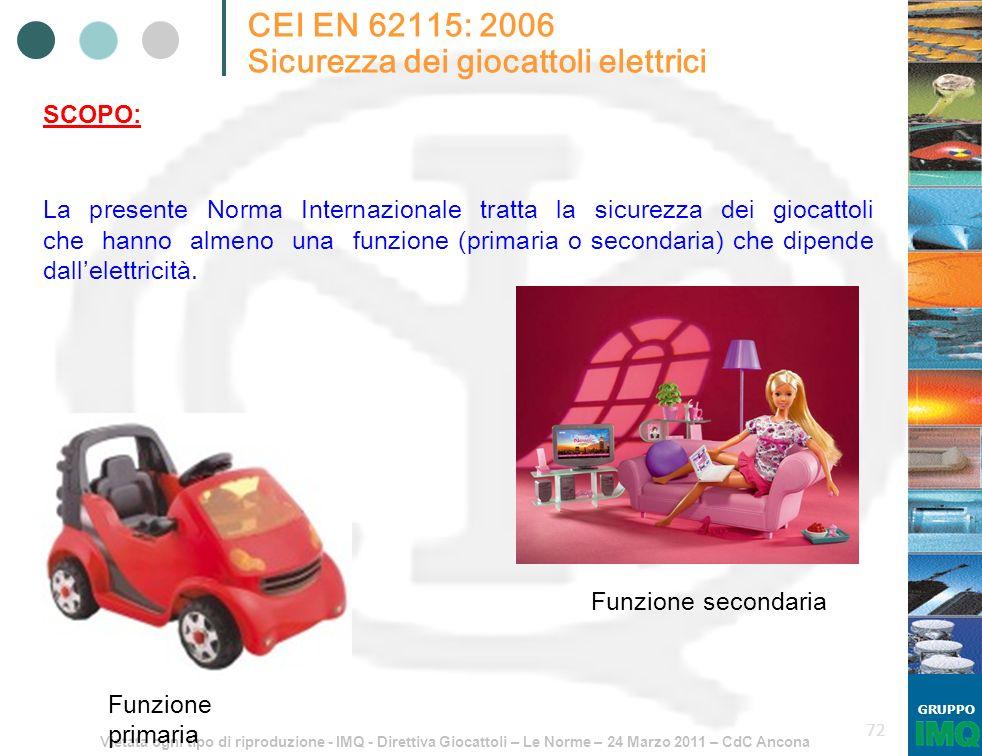 Sicurezza dei giocattoli elettrici