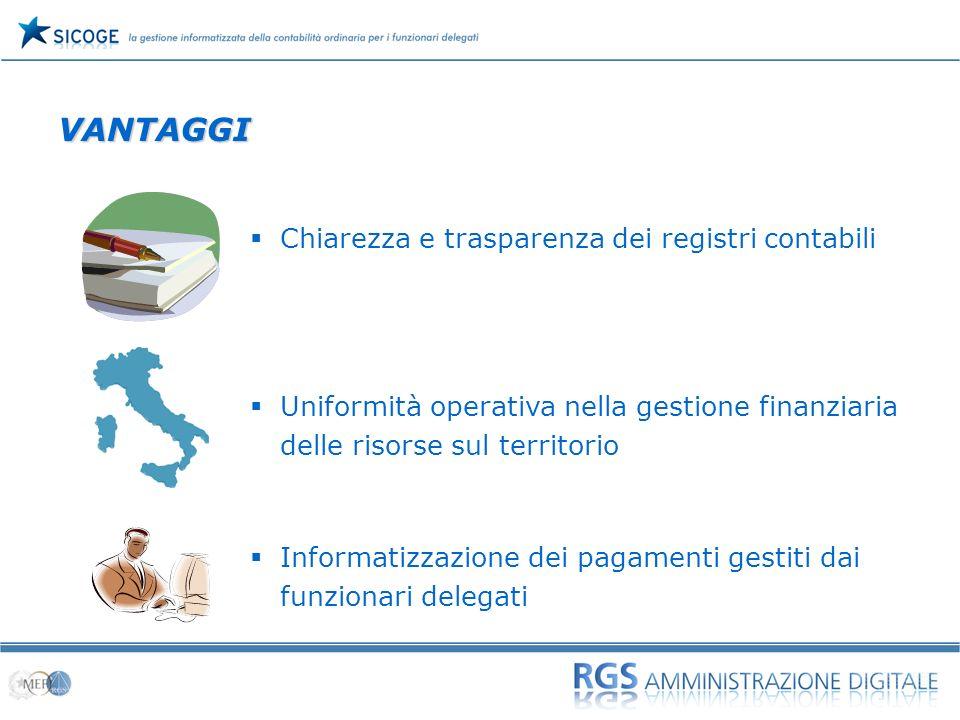 VANTAGGI Chiarezza e trasparenza dei registri contabili