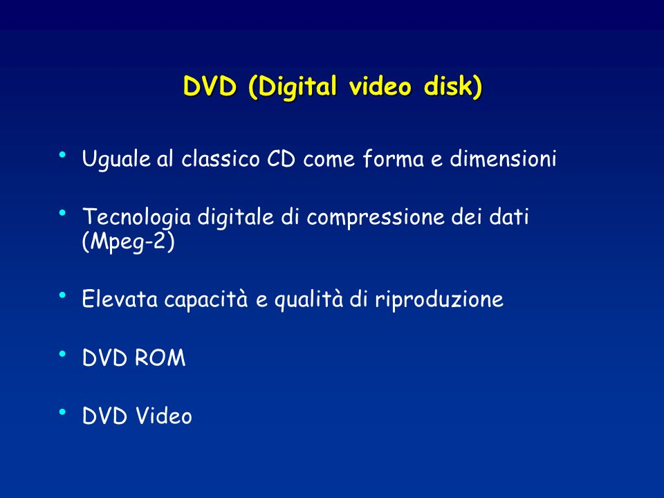 DVD (Digital video disk)