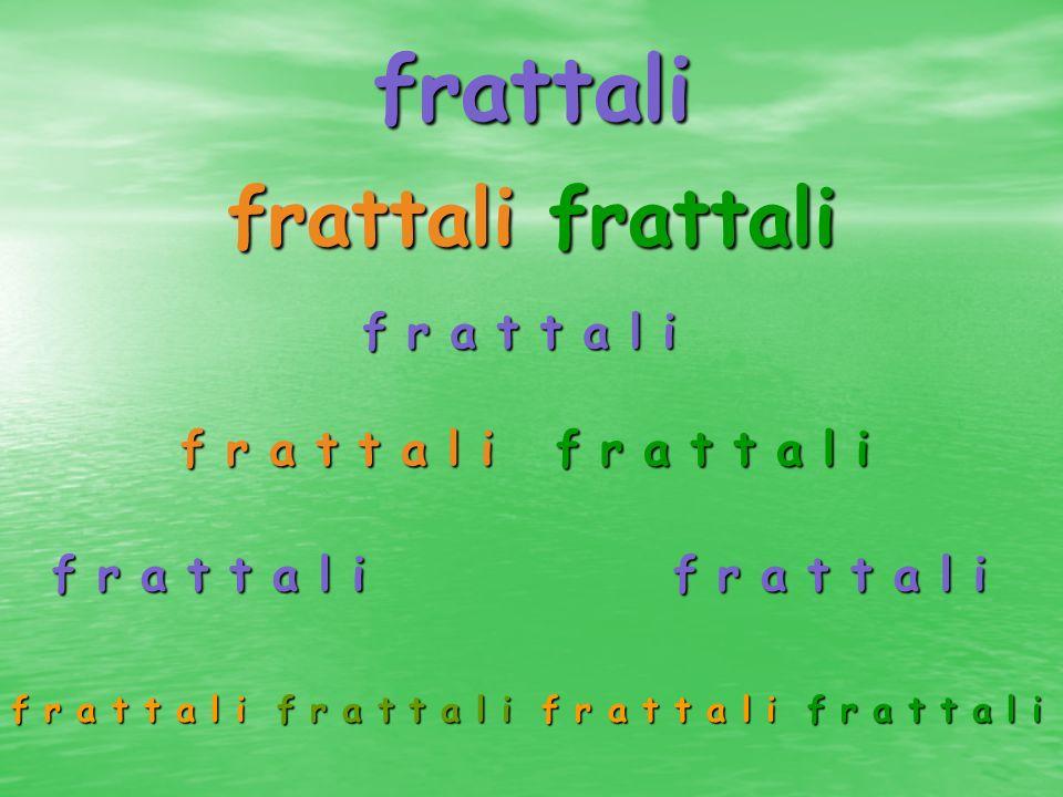 frattali frattali frattali f r a t t a l i