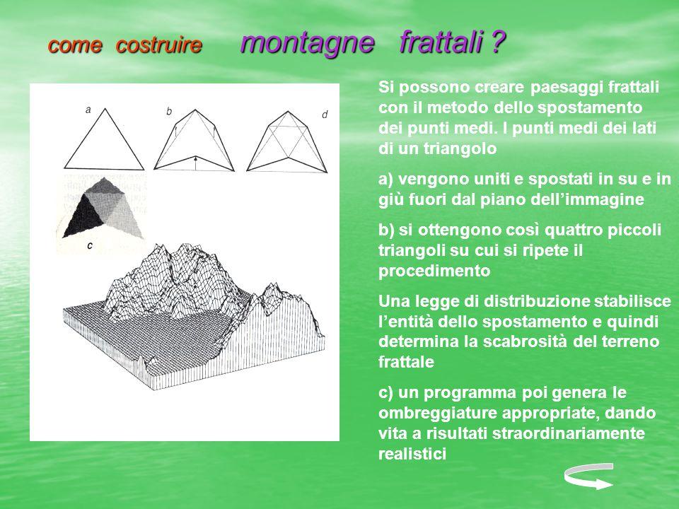 come costruire montagne frattali