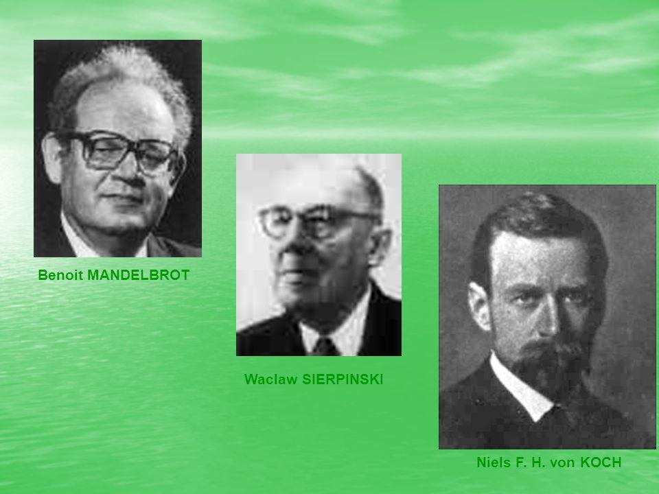 Benoit MANDELBROT Waclaw SIERPINSKI Niels F. H. von KOCH
