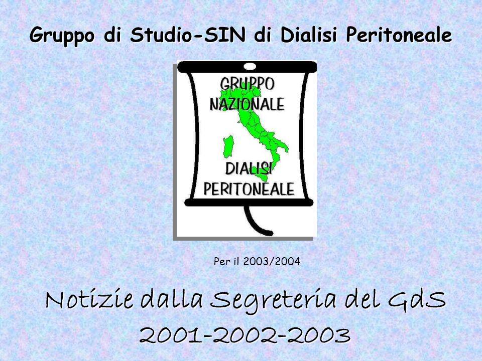 Notizie dalla Segreteria del GdS 2001-2002-2003