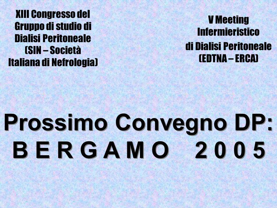 V Meeting Infermieristico di Dialisi Peritoneale (EDTNA – ERCA)