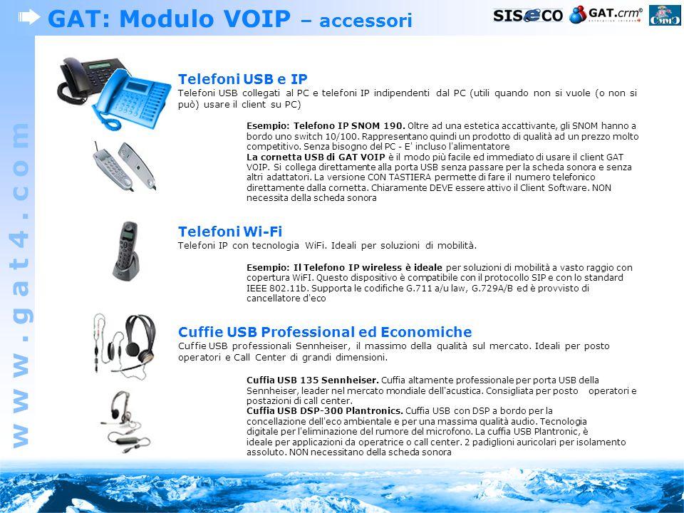 GAT: Modulo VOIP – accessori