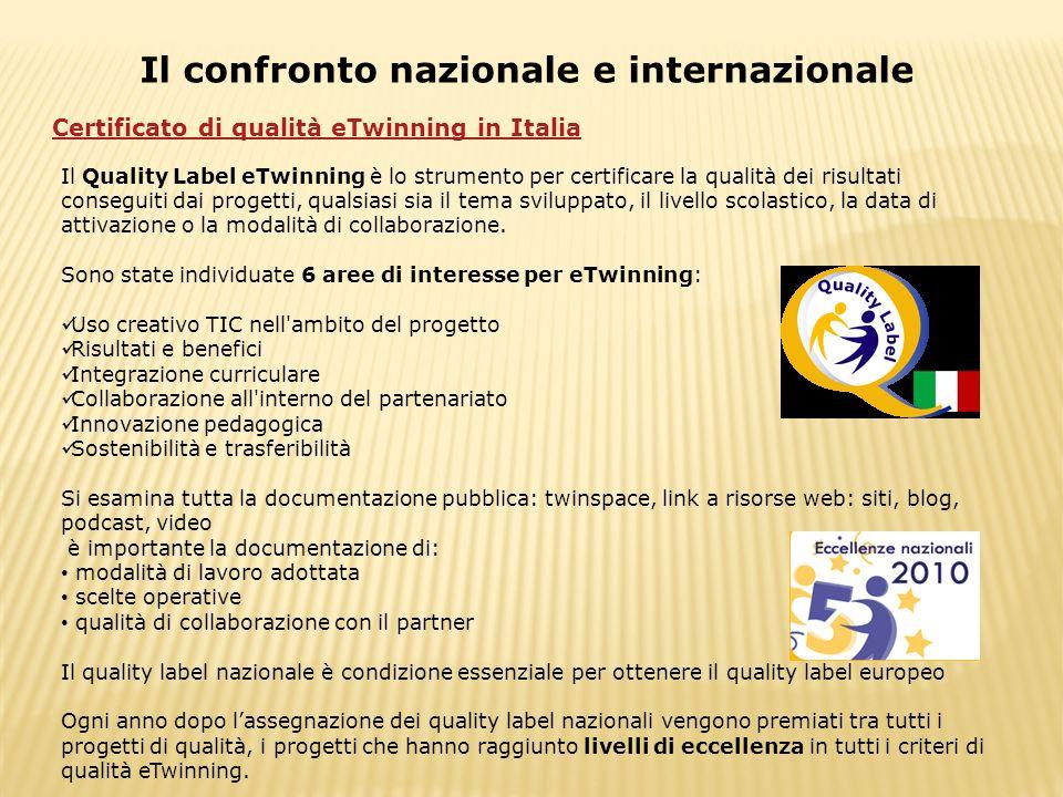 Il confronto nazionale e internazionale