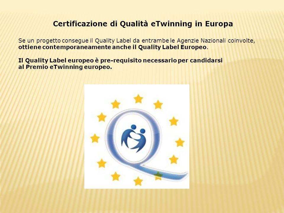 Certificazione di Qualità eTwinning in Europa