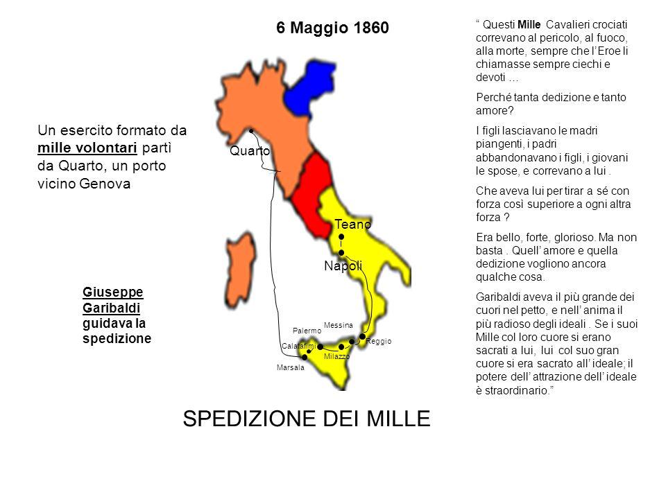 SPEDIZIONE DEI MILLE 6 Maggio 1860