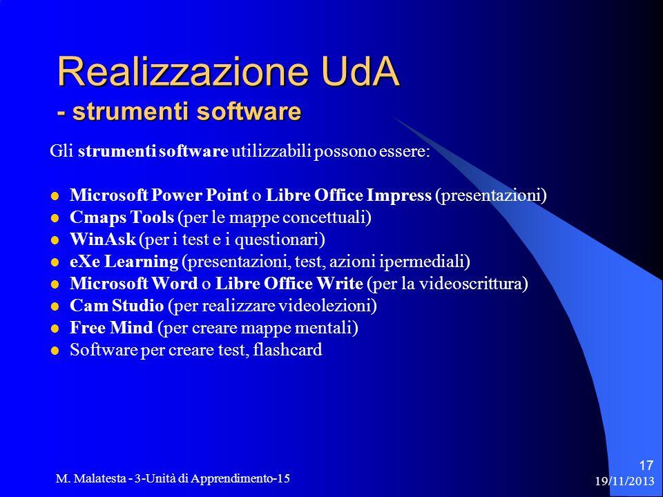 Realizzazione UdA - strumenti software