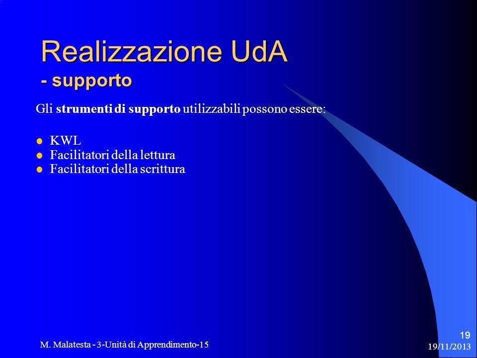 Realizzazione UdA - supporto