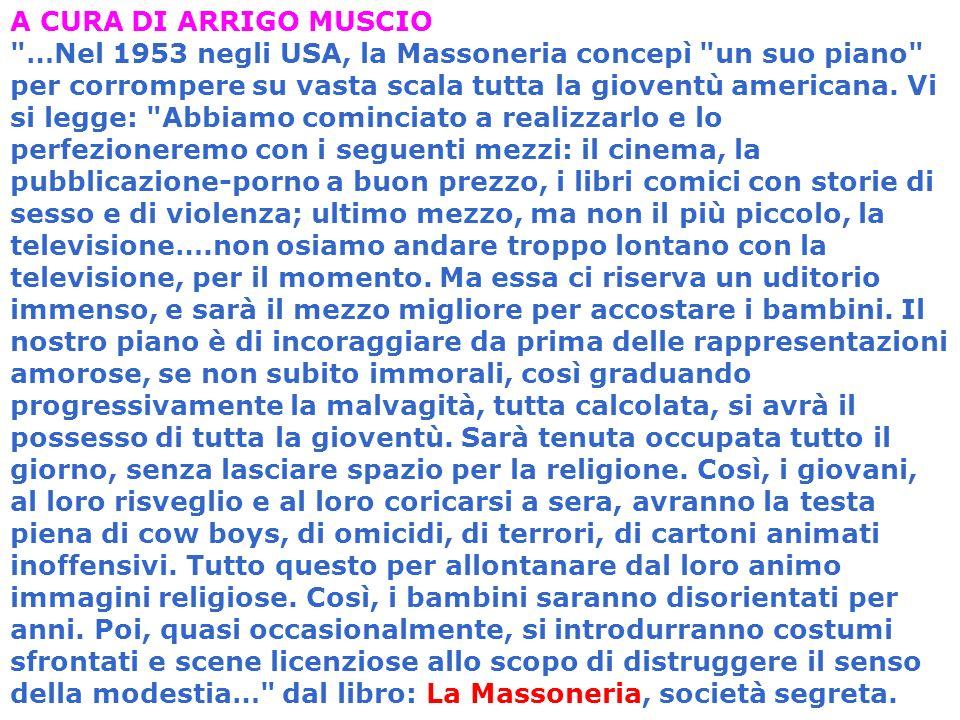 A CURA DI ARRIGO MUSCIO