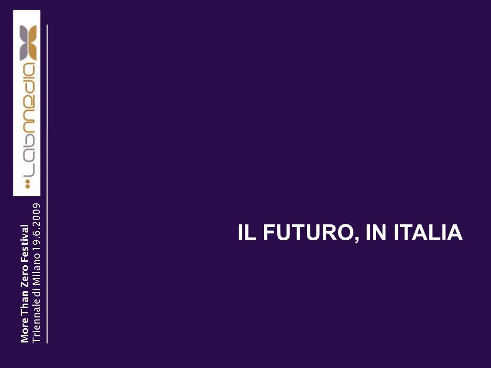 IL FUTURO, IN ITALIA Triennale di Milano 19.6.2009