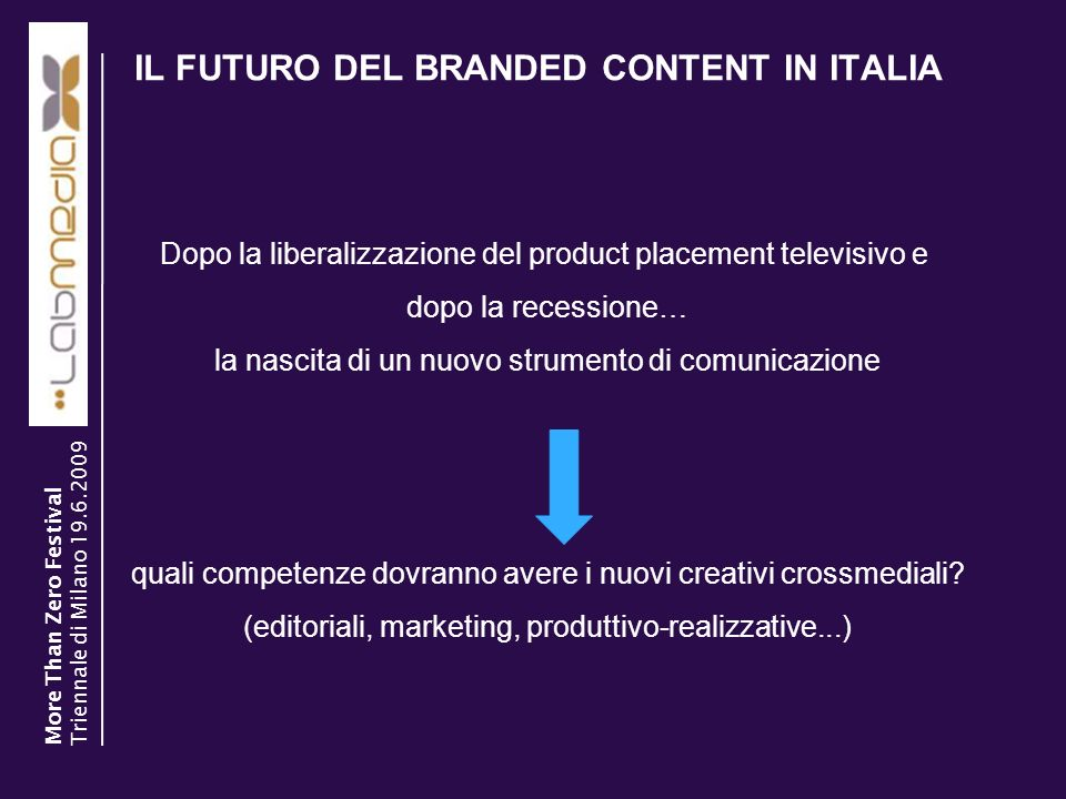 IL FUTURO DEL BRANDED CONTENT IN ITALIA