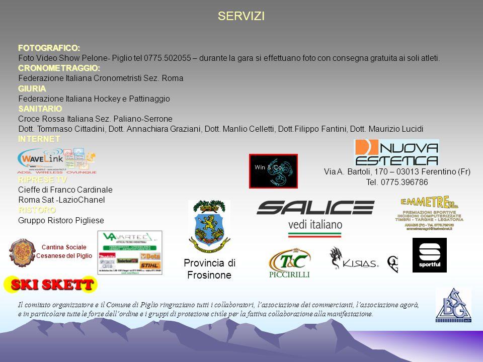 SERVIZI Provincia di Frosinone FOTOGRAFICO: