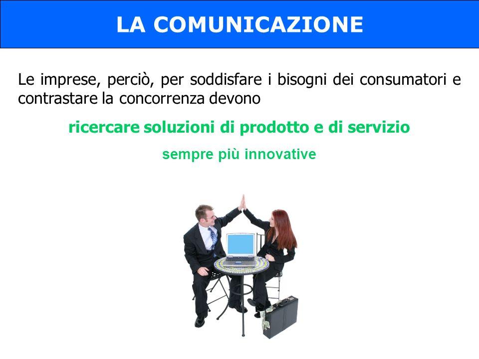 ricercare soluzioni di prodotto e di servizio