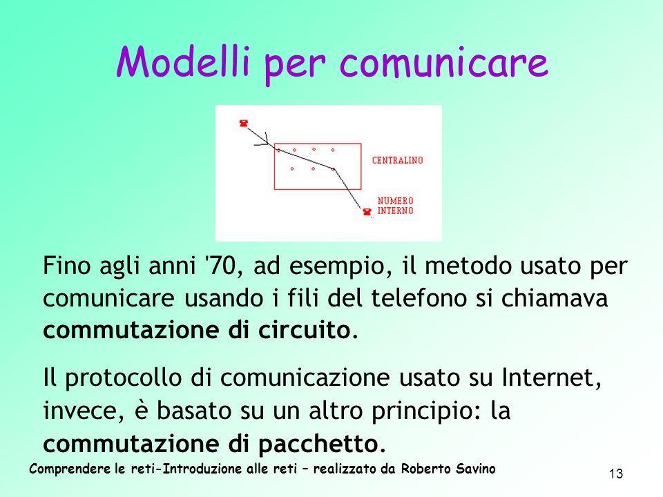 Modelli per comunicare