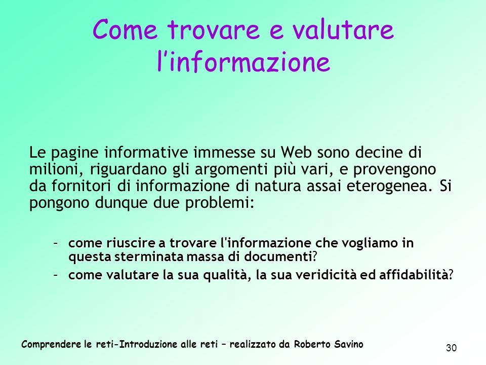 Come trovare e valutare l'informazione