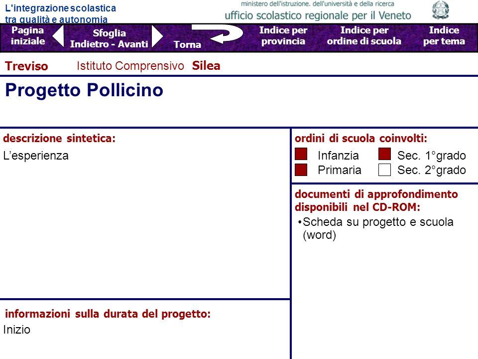 Progetto Pollicino Treviso Istituto Comprensivo Silea L'esperienza