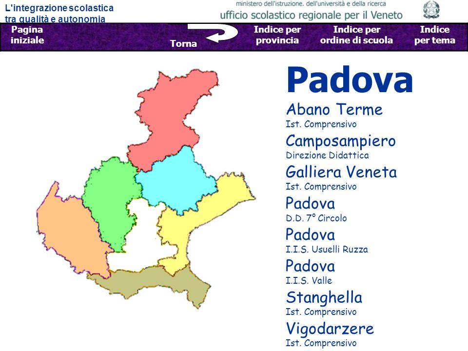 Padova Abano Terme Ist. Comprensivo Camposampiero Direzione Didattica