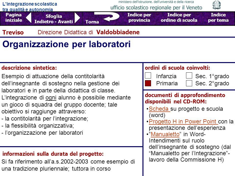 Organizzazione per laboratori