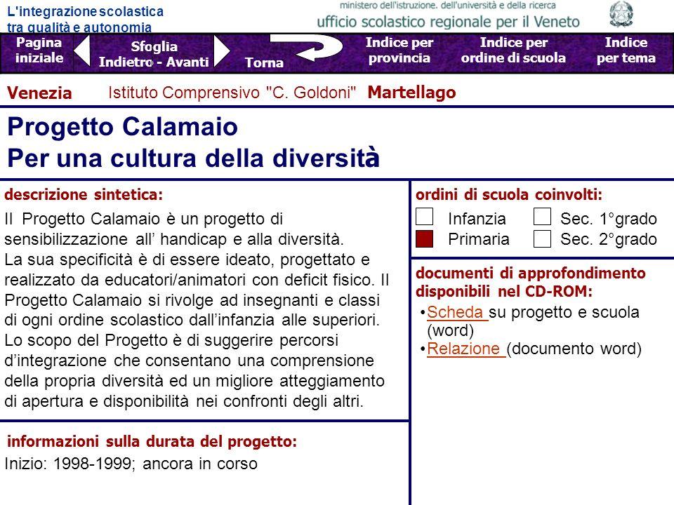 Progetto Calamaio Per una cultura della diversità
